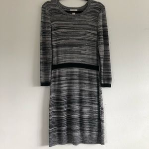 LOFT Gray Knit Comfy Sweater Dress Medium